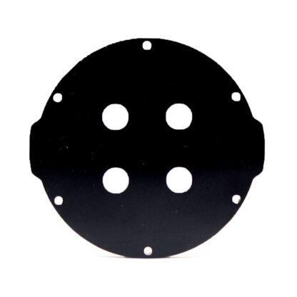 "Aluminum End Cap with 4 Holes (3"" Series)"