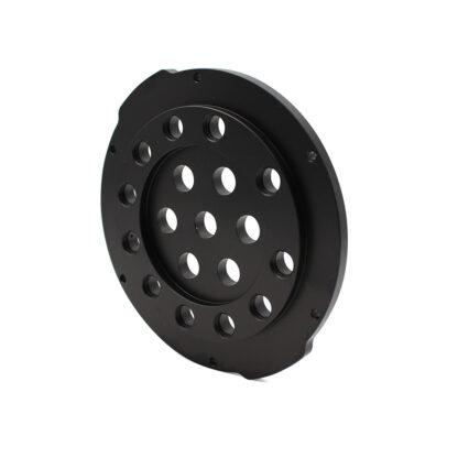 "Aluminum End Cap with 18 Holes (4"" Series)"